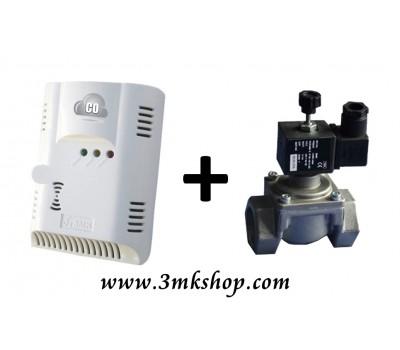 3MK Karbonmonoksit Emniyet Seti (3MK-C0220 Pilli ve Şarjlı Karbonmonoksit Dedektörü + Otomatik Gaz Kesme Sistemi)