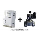3MK Karbonmonoksit Emniyet Seti 2 (3MK-COB Pilli Karbonmonoksit Dedektörü + Otomatik Gaz Kesme Sistemi)