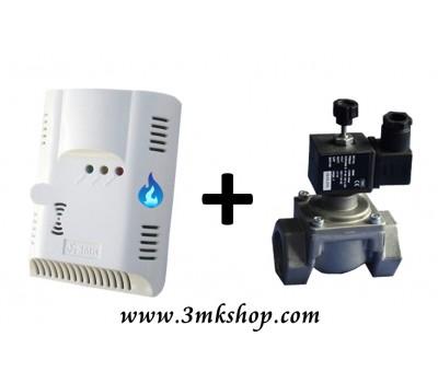 3MK Doğalgaz Emniyet Seti (3MK-5120D Doğalgaz Dedektörü + Otomatik Gaz Kesme Sistemi)