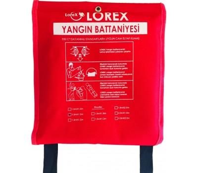 LOREX LR-FB1015C 150cm x 100cm Çantalı Yangın Battaniyesi