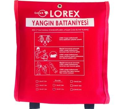 LOREX LR-FB1512C 150cm x 120cm Çantalı Yangın Battaniyesi