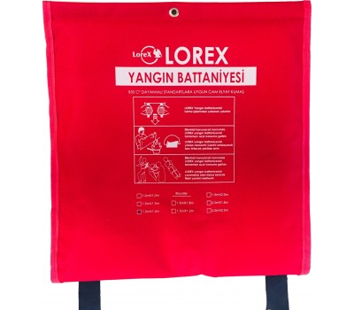 LOREX LR-FB1515C 150cm x 150cm Çantalı Yangın Battaniyesi