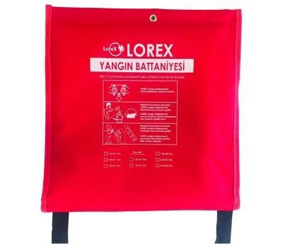 LOREX LR-FB1518C 150x180 cm Çantalı Alev Almaz Yangın Söndürme Battaniyesi