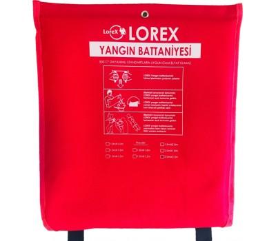 LOREX LR-FB2020C 200cm x 200cm Çantalı Alev Almaz Yangın Söndürme Battaniyesi