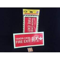 LOREX LR-FKD Kırmızı Fosforlu Acil Durum Yönlendirme Levhası (FIRE EXIT-ACİL ÇIKIŞ)