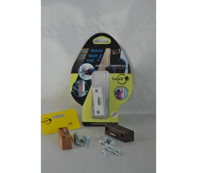LOREX LR-WK PVC Pencere Hırsız Emniyet Kilidi (Kahverengi)