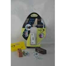 LOREX LR-WKK PVC  Pencere Hırsız Emniyet Kilidi (Koyu Kahverengi)