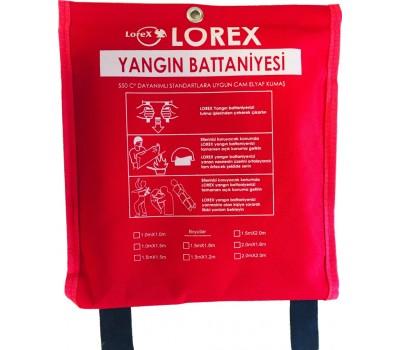 LOREX LR-FB1010C 100cm x 100cm Çantalı Yangın Battaniyesi