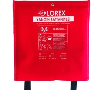 LOREX LR-FB2016C 200cm x 160cm Çantalı Yangın Battaniyesi