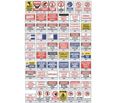 Lorex PVC İş Güvenlik Uyarı İkaz Levhaları