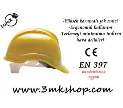 Lorex LR-550 Ter Bantlı Sarı Baret