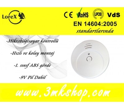 LOREX LR-SA5 Pilli Duman Dedektörü - Sensörü