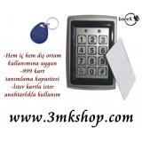 LOREX LR-DPH2 Dış Ortam Şifreli Kartlı Kapı Kilidi Açıcı - Şifreli Kapı Otomatiği