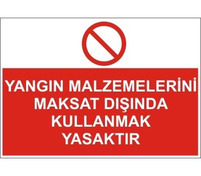 LR-YL58 YANGIN MALZEMELERİNİ MAKSAT DIŞINDA KULLANMAK  YASAKTIR