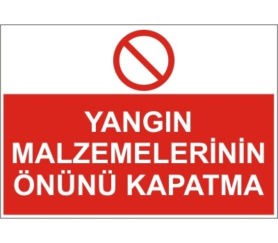 LR-YL59 YANGIN  MALZEMELERİNİN ÖNÜNÜ KAPATMA
